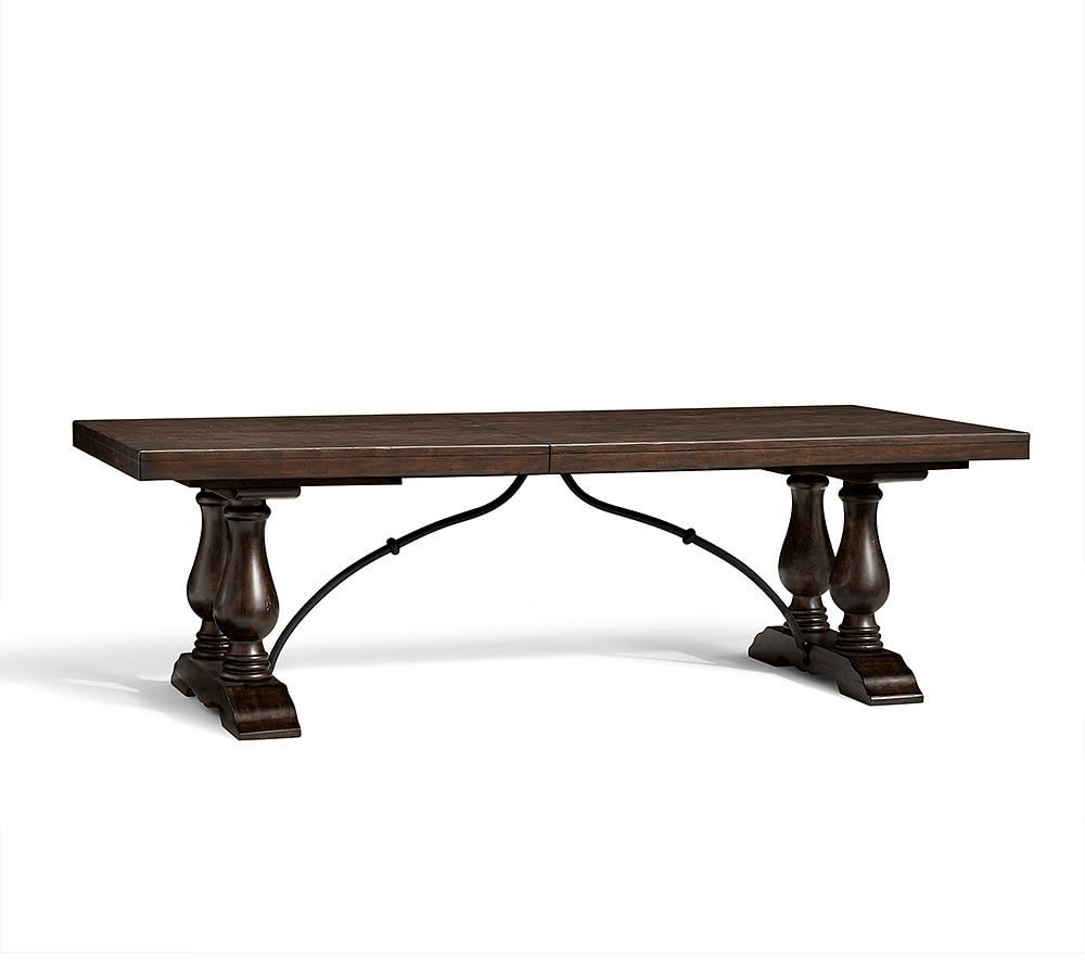 Featured Image of Rustic Brown Lorraine Extending Dining Tables