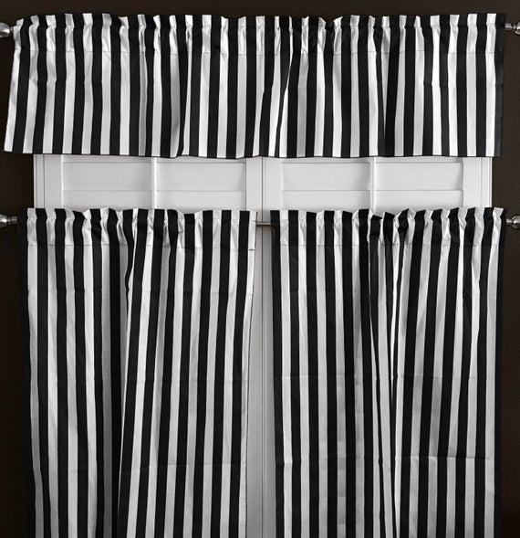 Lovemyfabric Cotton Blend Striped Print Kitchen Curtain Tier/valance Window Treatment Inside Cotton Blend Grey Kitchen Curtain Tiers (View 9 of 25)
