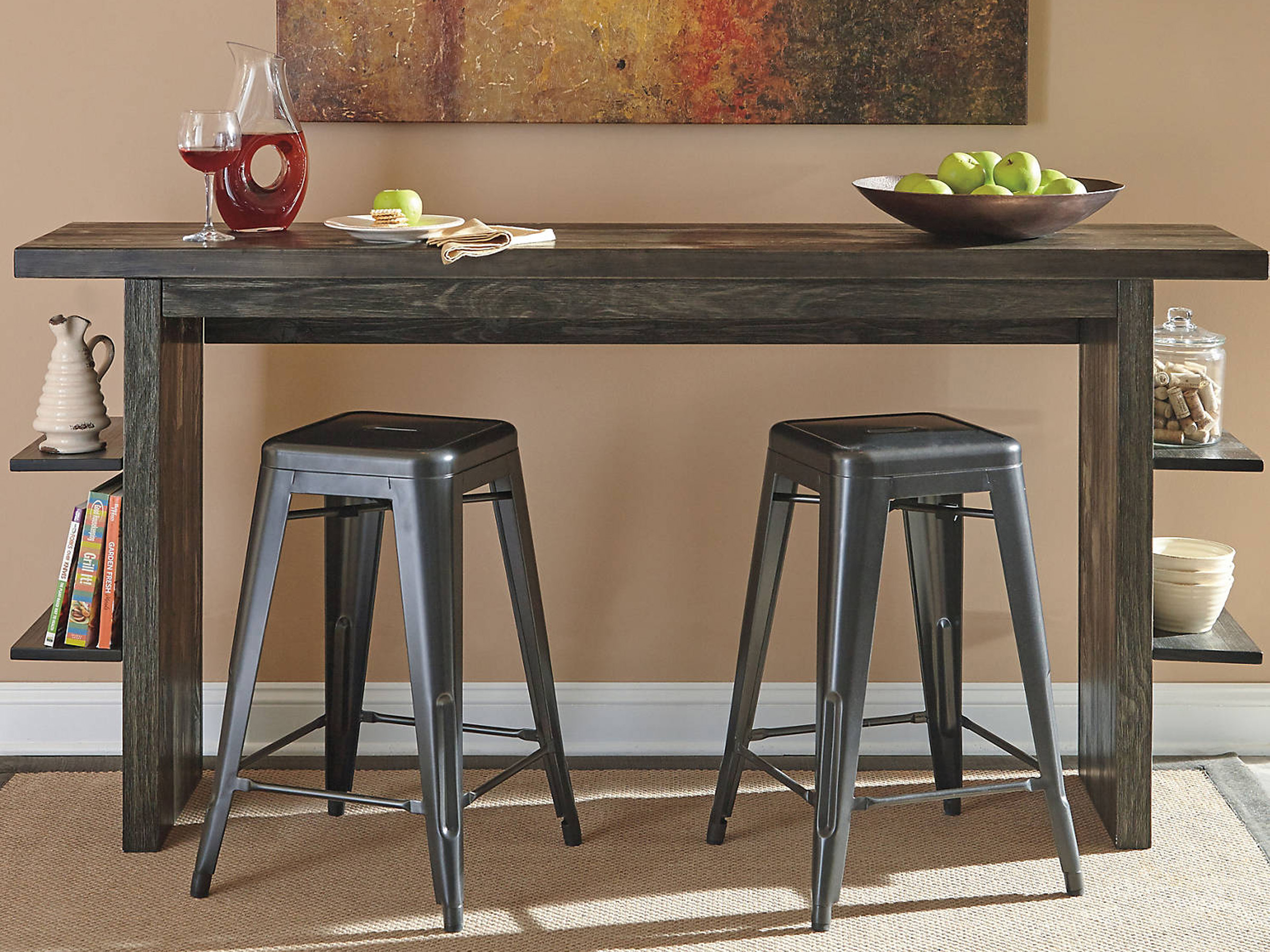 Lucy – Dark Gray – Long Counter Table Intended For Most Up To Date Lucy Bar Height Dining Tables (Image 11 of 25)