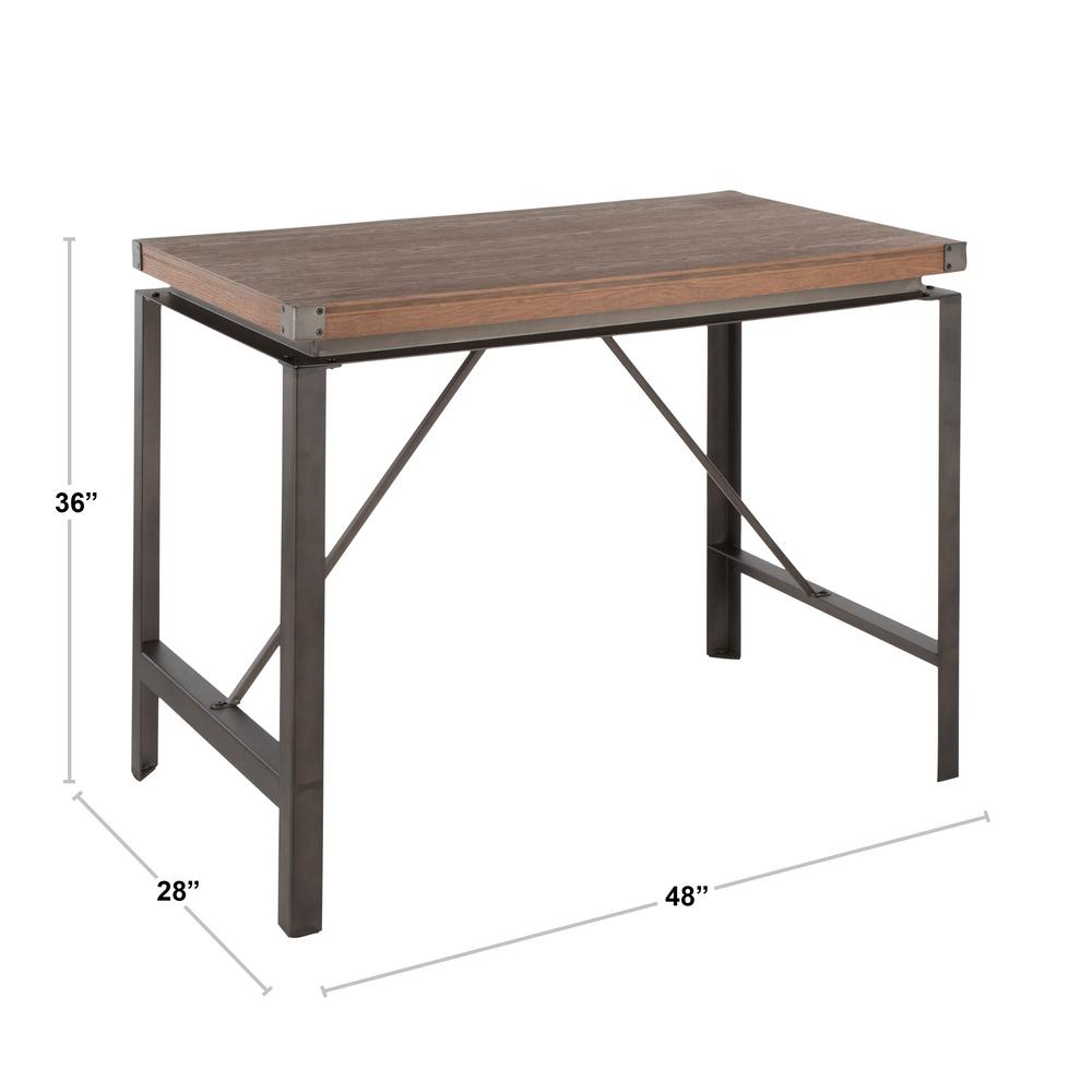 Lumisource Arbor Antique And Brown Counter Height Dining For Best And Newest Gray Wash Lorraine Extending Dining Tables (View 16 of 25)