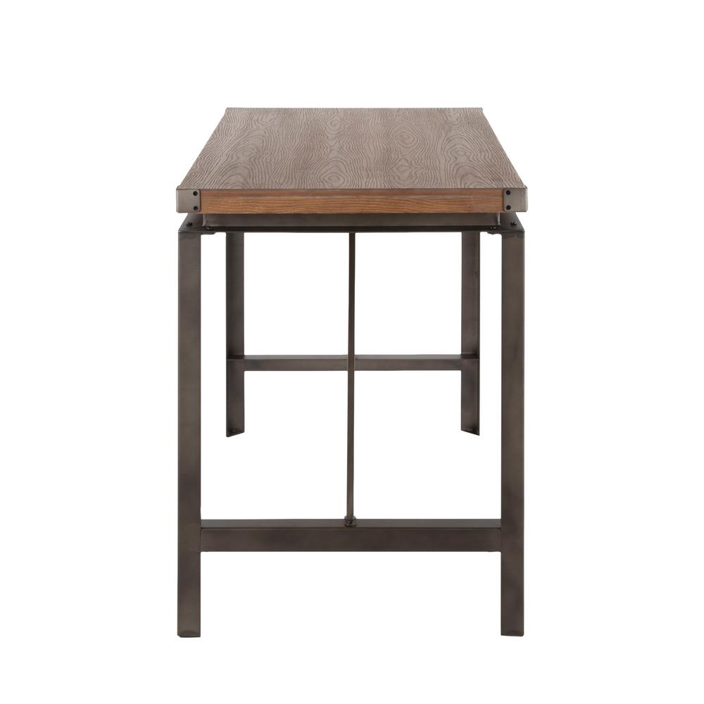 Lumisource Arbor Antique And Brown Counter Height Dining Intended For 2018 Gray Wash Lorraine Extending Dining Tables (View 25 of 25)