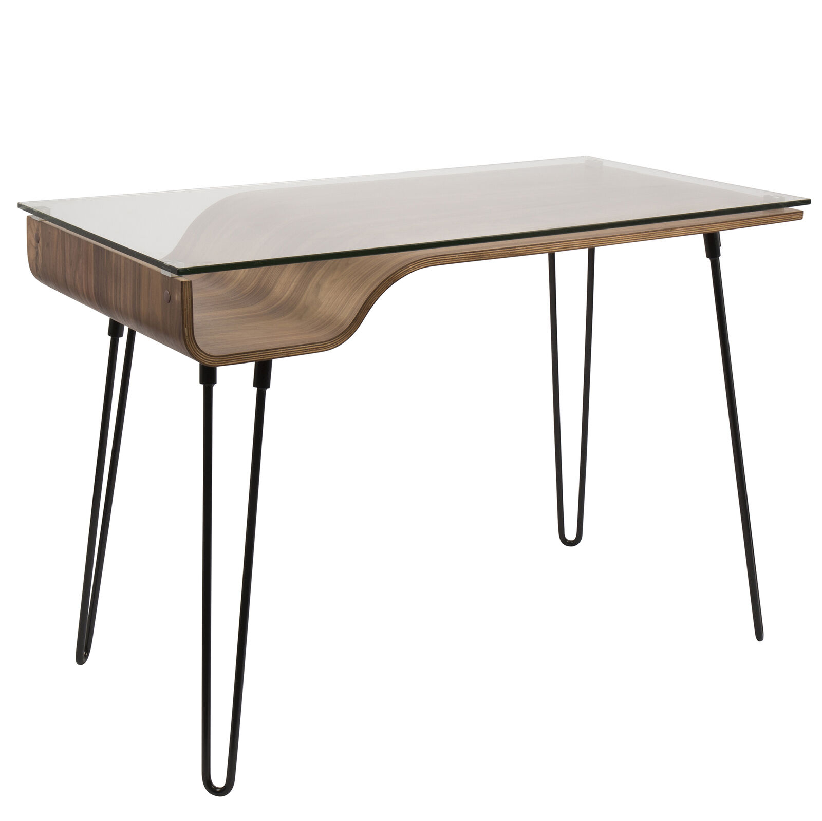 Lumisource Avery Desk Walnut Top / Black Frame In Most Up To Date Avery Rectangular Dining Tables (View 22 of 25)