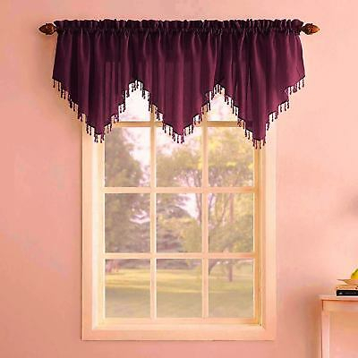 Luxurious Milawi Organza Sheer Window Treatment Window Intended For Vertical Ruffled Waterfall Valances And Curtain Tiers (Image 10 of 25)