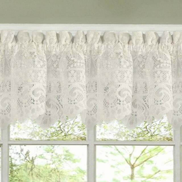 Luxurious Old World Style Lace Kitchen Curtains Tiers And Intended For Kitchen Curtain Tiers (View 3 of 25)