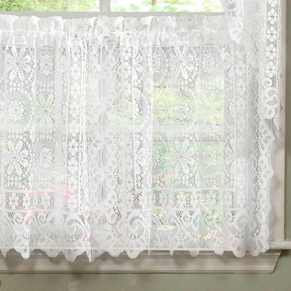 Luxurious Old World Style White Lace Kitchen Curtains Tiers With Regard To Luxurious Kitchen Curtains Tiers, Shade Or Valances (View 3 of 25)