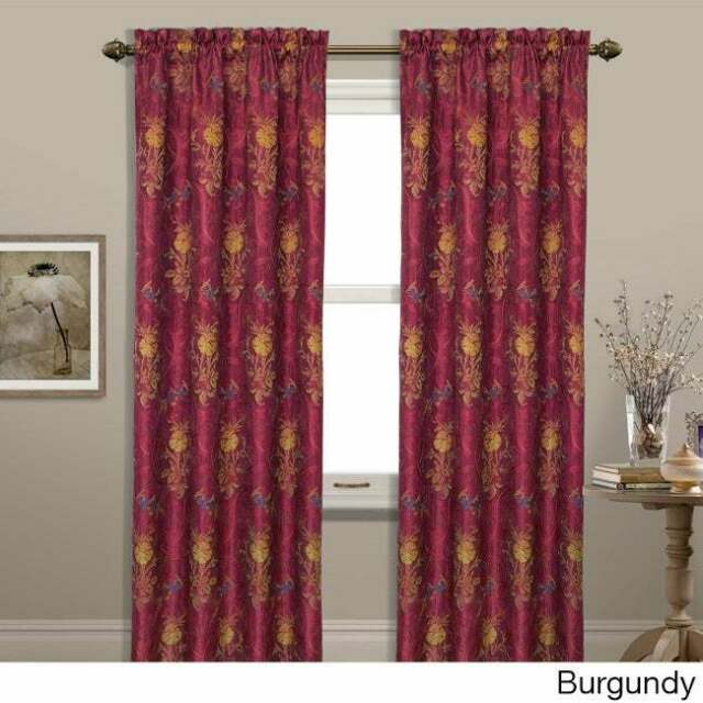 Luxury Collection Jewel Light Filtering Single Curtain Panel With Regard To Luxury Light Filtering Straight Curtain Valances (Image 12 of 25)