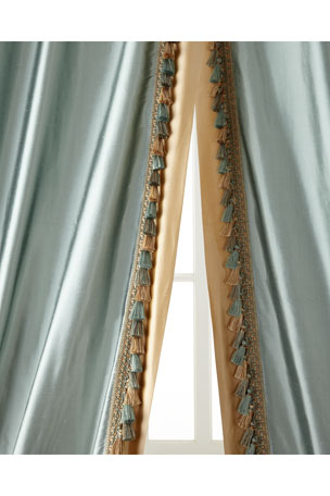 Luxury Curtains & Curtain Hardware At Neiman Marcus In Traditional Tailored Tier And Swag Window Curtains Sets With Ornate Flower Garden Print (View 7 of 25)
