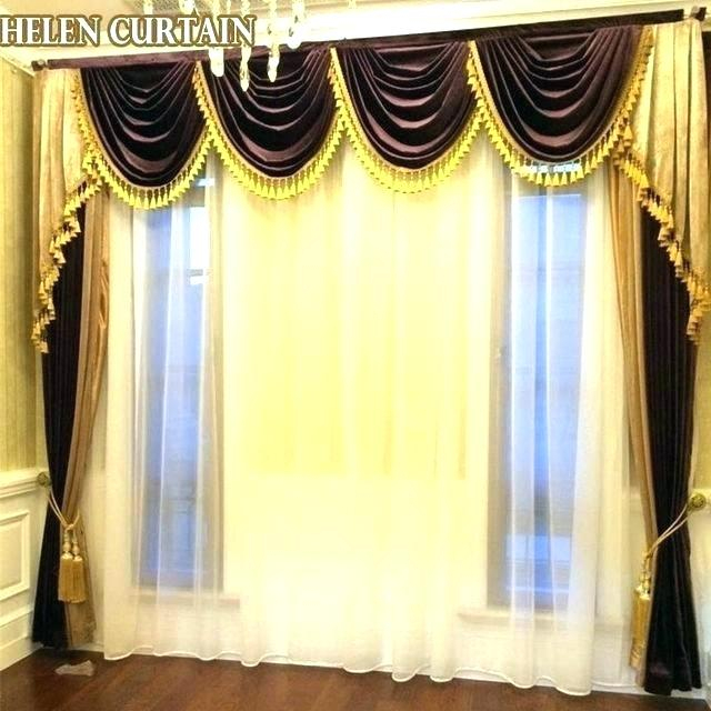 Luxury Curtains For Bedroom – Gogeek For Embroidered Floral 5 Piece Kitchen Curtain Sets (View 17 of 25)