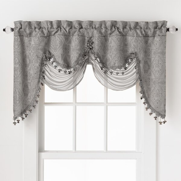 Luxury Curtains With Valance | Wayfair Pertaining To Luxury Light Filtering Straight Curtain Valances (Image 13 of 25)