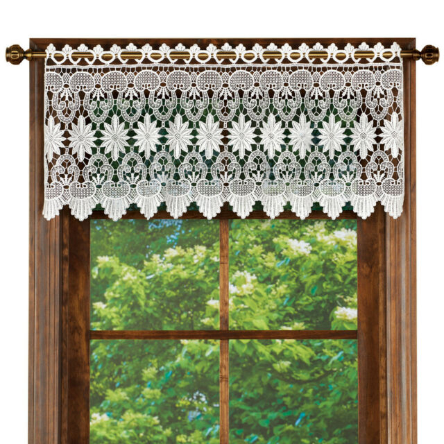 Macrame Curtain Scalloped Valance Window Topper For Bathroom, Bedroom, Kitchen With Tailored Toppers With Valances (View 11 of 25)