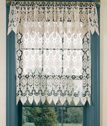 Macrame Medallion Wider Valance Country Curtains | Shopping With Regard To Medallion Window Curtain Valances (View 8 of 25)