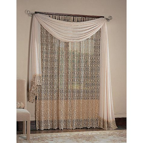 Macrame Windows – ค้นหาด้วย Google | In My Dreams | Curtains Intended For Class Blue Cotton Blend Macrame Trimmed Decorative Window Curtains (View 15 of 25)