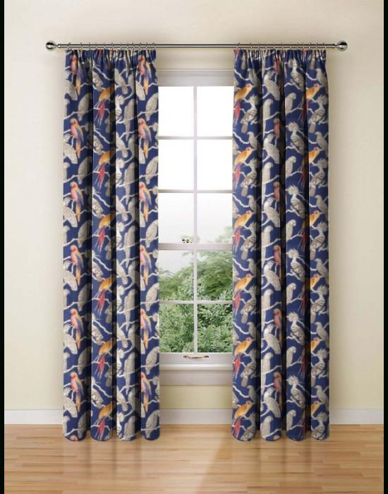 Made To Measure Curtains Aviary Marine – Made To Measure Curtains Iliv | Curtains And Blinds 4 Homes Regarding Aviary Window Curtains (View 6 of 25)