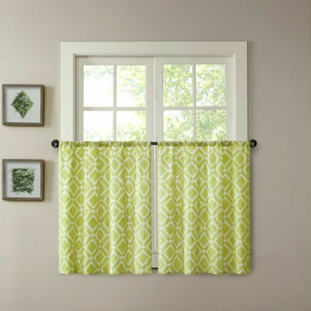 Madison Park Print Light Filtering Curtain Valance In Light Filtering Kitchen Tiers (View 4 of 25)