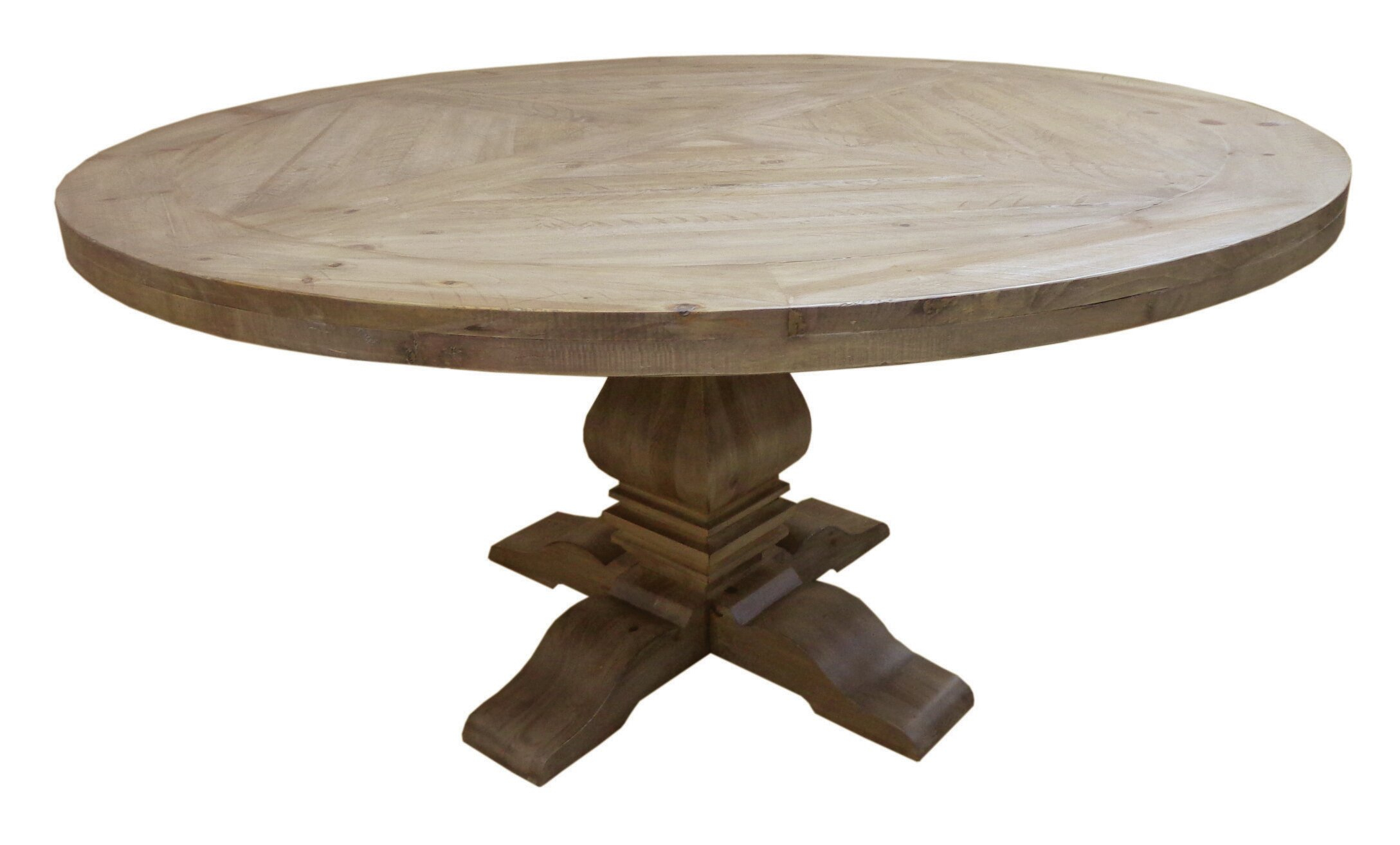 Magaw Solid Wood Dining Table Inside Recent Rae Round Pedestal Dining Tables (Image 11 of 25)