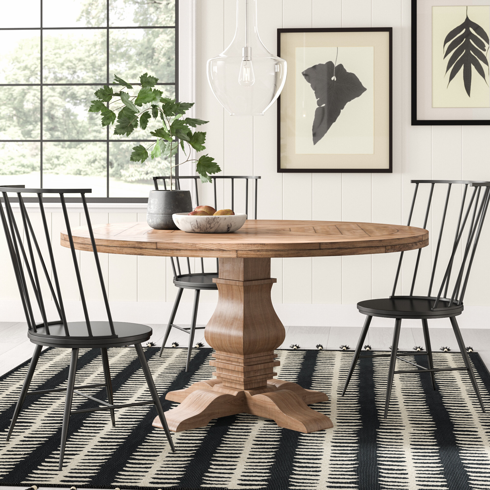 Magaw Solid Wood Dining Table Pertaining To Most Up To Date Rae Round Pedestal Dining Tables (Photo 11 of 25)
