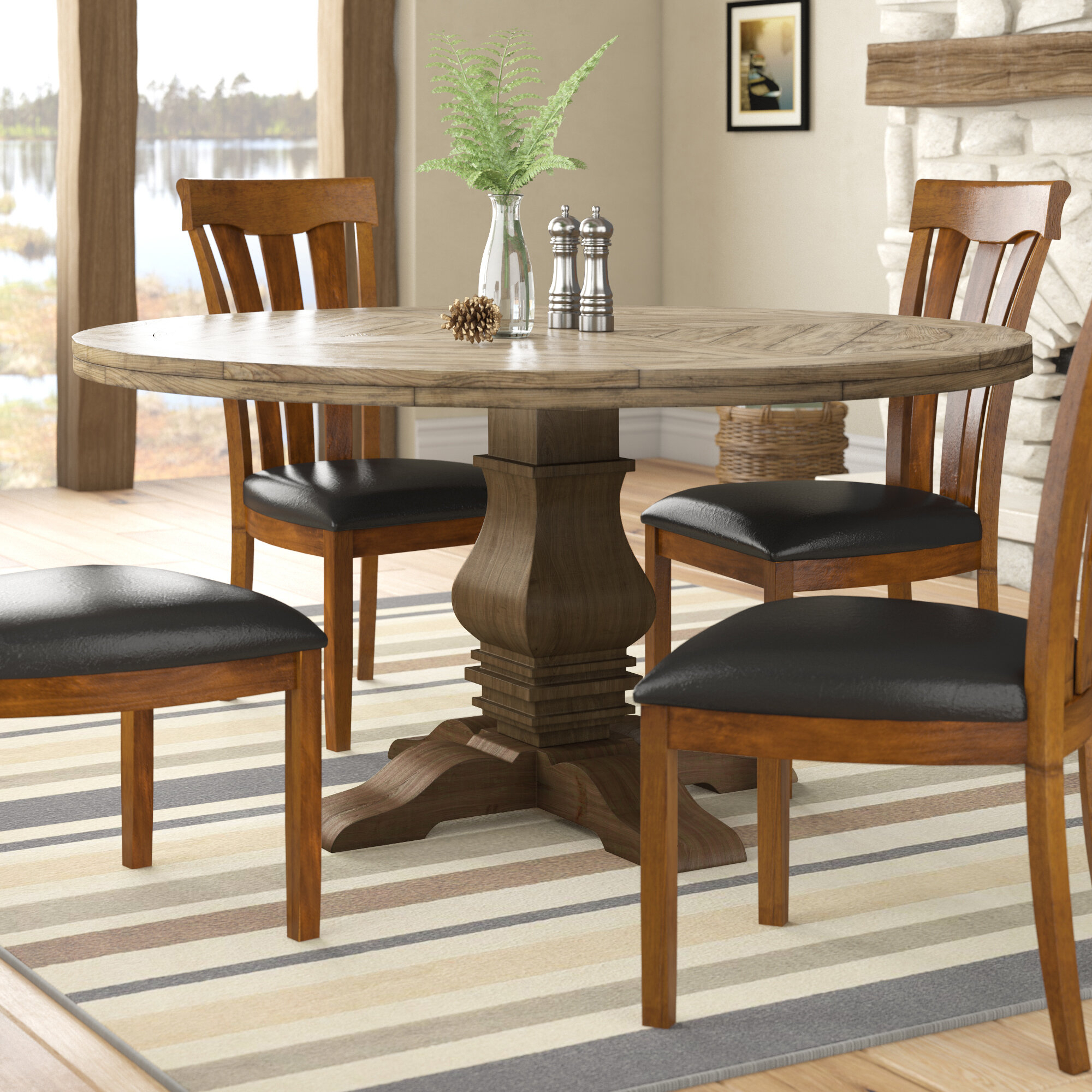 Magaw Solid Wood Dining Table Within Most Current Rae Round Pedestal Dining Tables (View 7 of 25)