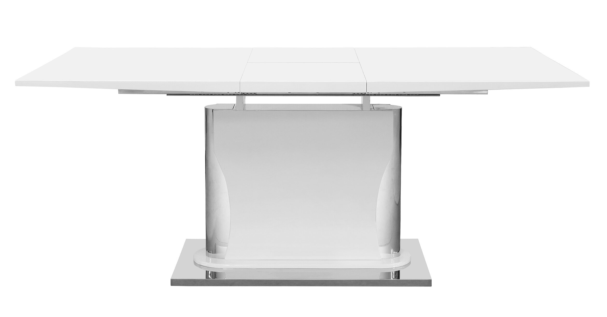 Mager Extendable Dining Table Throughout Recent Gray Wash Banks Pedestal Extending Dining Tables (View 22 of 25)
