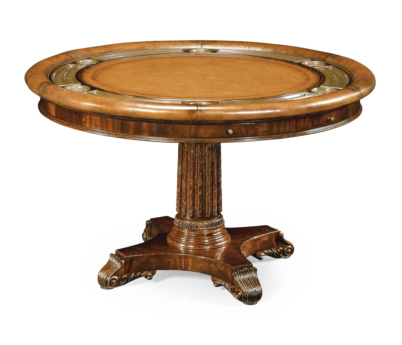 Mahogany Round Poker Table In Most Popular Icarus Round Bar Tables (View 22 of 25)