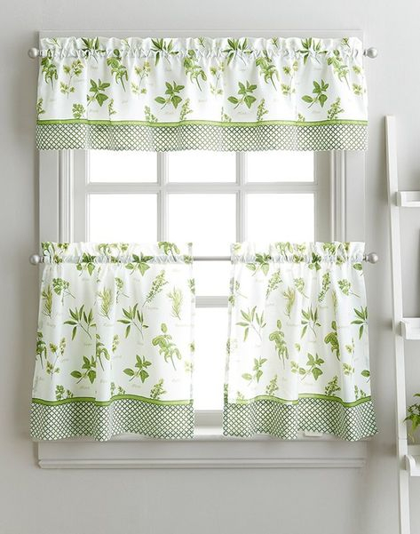 Featured Image of Floral Watercolor Semi Sheer Rod Pocket Kitchen Curtain Valance And Tiers Sets