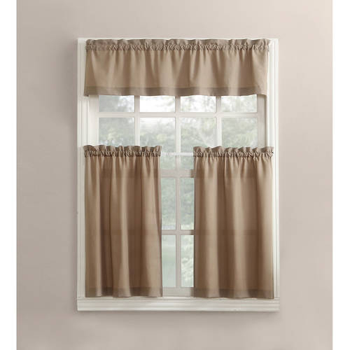 Featured Image of Twill 3 Piece Kitchen Curtain Tier Sets