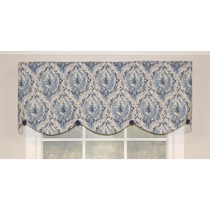 "Maisonet Medallion 50"" Window Valance For Medallion Window Curtain Valances (View 22 of 25)"