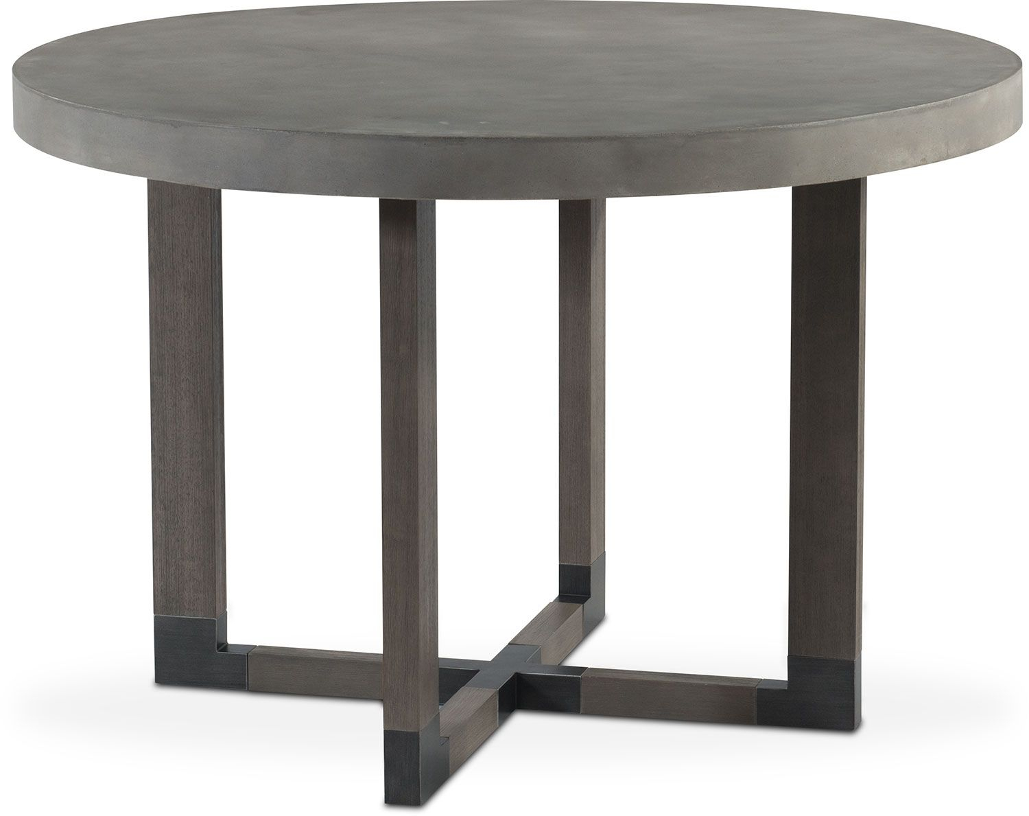 Malibu Round Counter Height Concrete Top Table – Gray Within Recent James Adjustables Height Extending Dining Tables (Image 16 of 25)