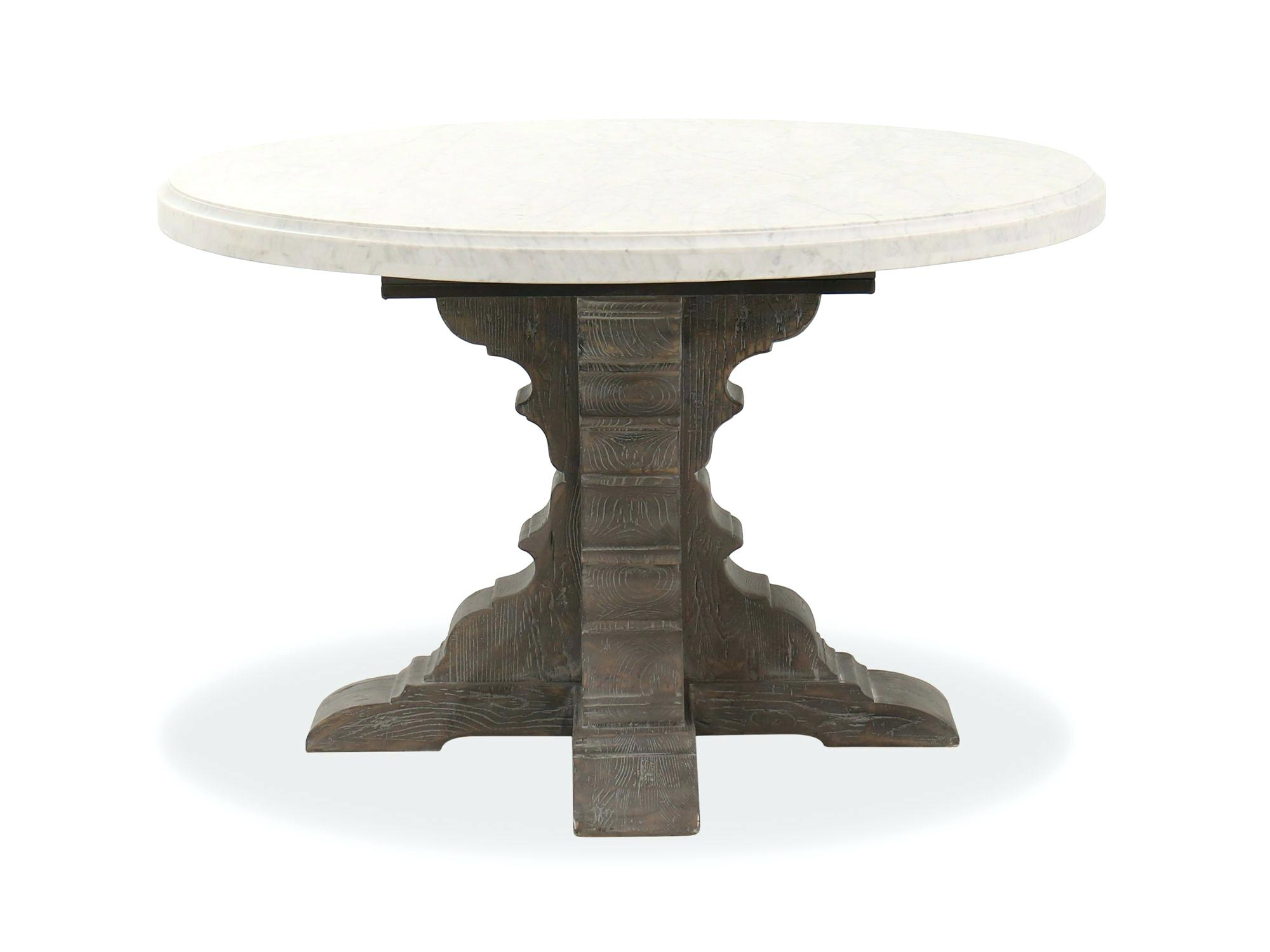 Marble Pedestal Dining Table – Meime (Image 14 of 25)