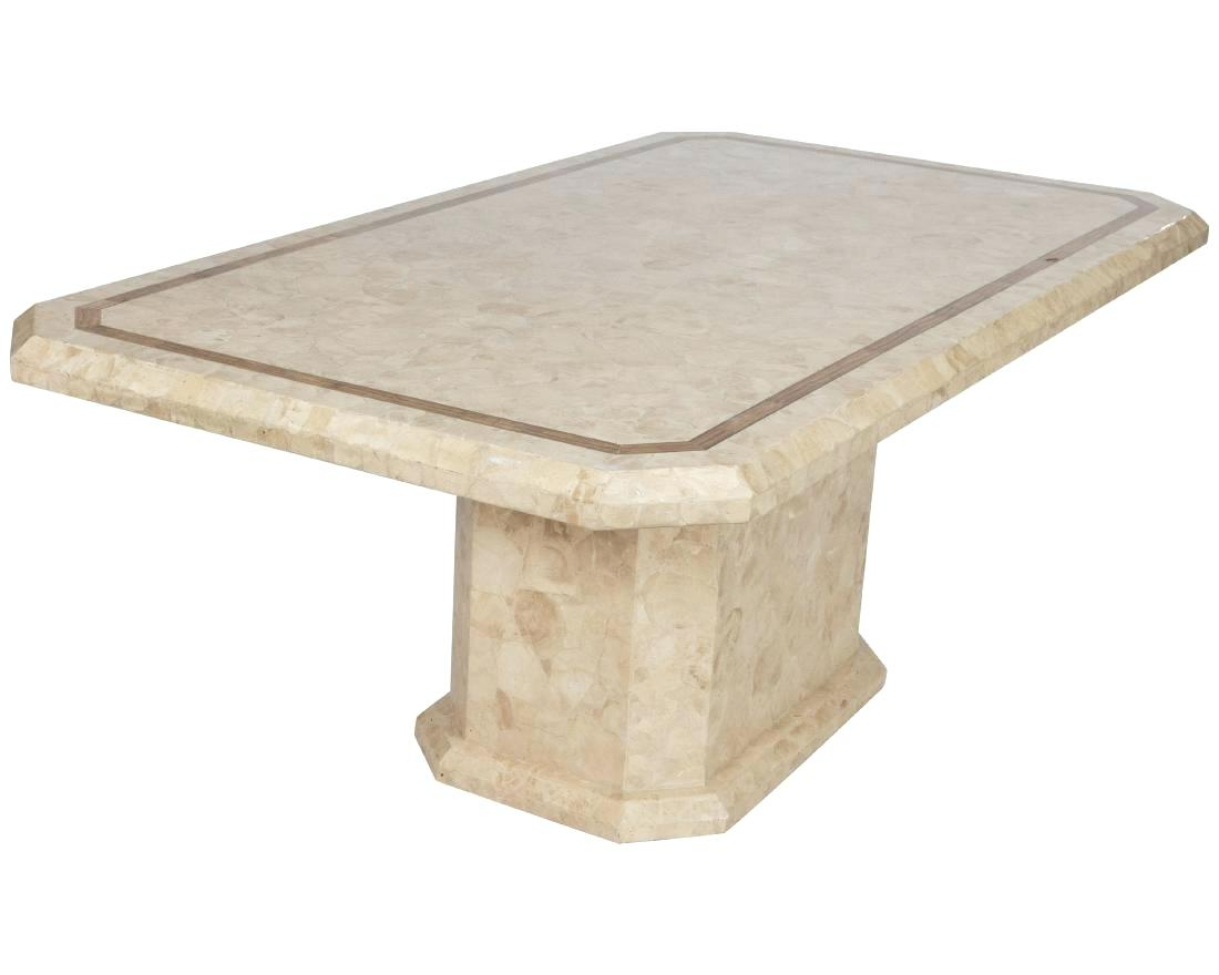 Marble Pedestal Dining Table – Meime (Image 16 of 25)