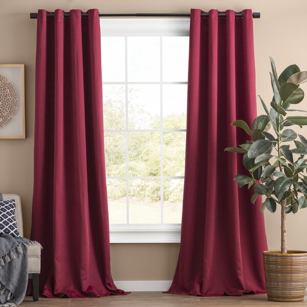 Maroon Curtains | Wayfair Intended For Kitchen Burgundy/white Curtain Sets (View 24 of 25)