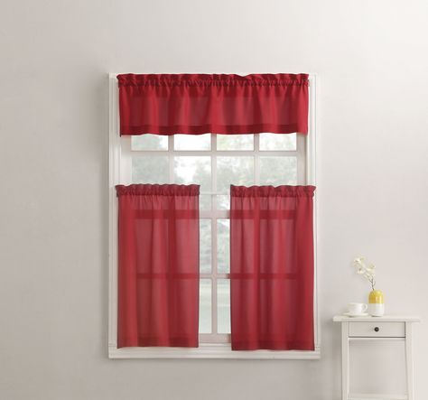 Martine Kitchen Curtain   Products   Kitchen Curtains For Modern Subtle Texture Solid White Kitchen Curtain Parts With Grommets Tier And Valance Options (View 18 of 25)