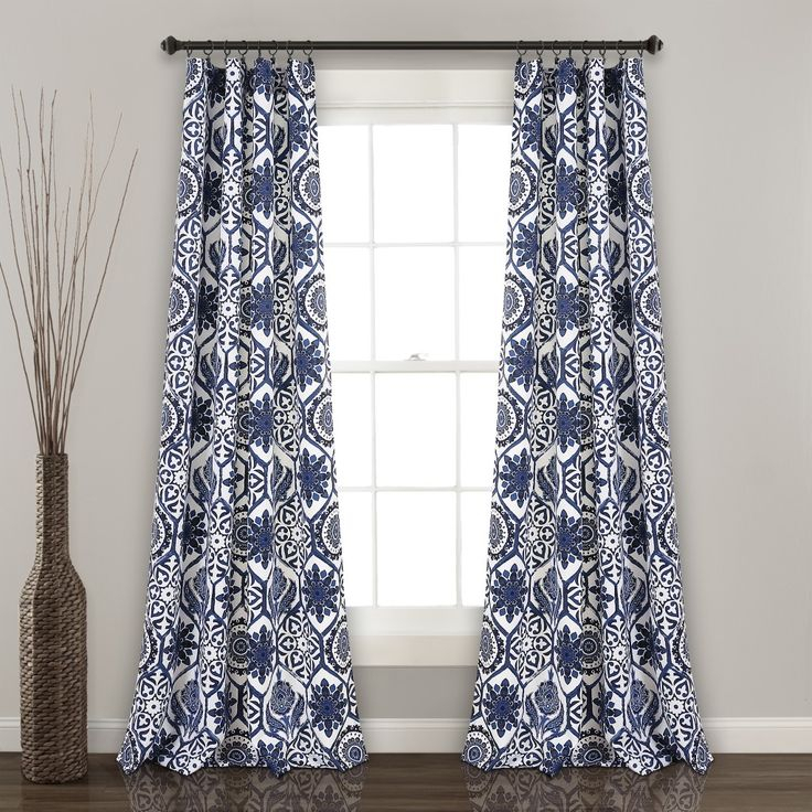 Marvel Room Darkening Window Curtain Panels Navy 52X84 Set Intended For Floral Blossom Ink Painting Thermal Room Darkening Kitchen Tier Pairs (View 3 of 25)