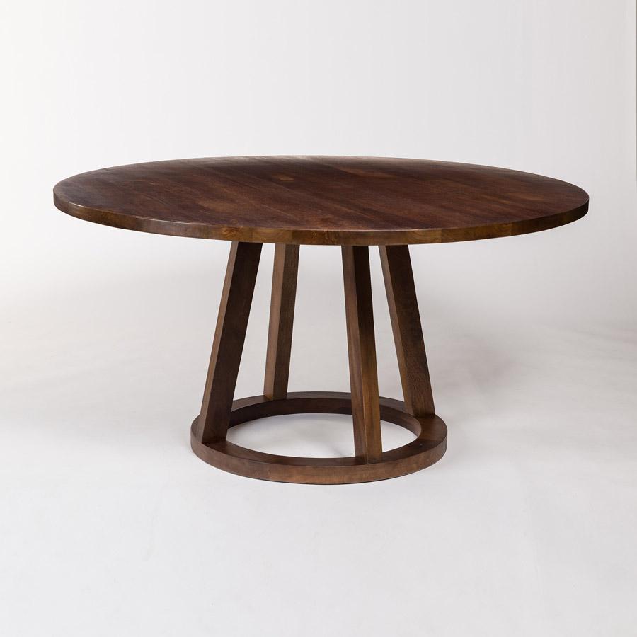 Mendocino 72″ Round Dining Table – Alder & Tweed Furniture With Latest Alder Pub Tables (Image 18 of 25)