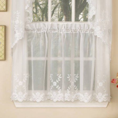 Featured Image of White Micro Striped Semi Sheer Window Curtain Pieces