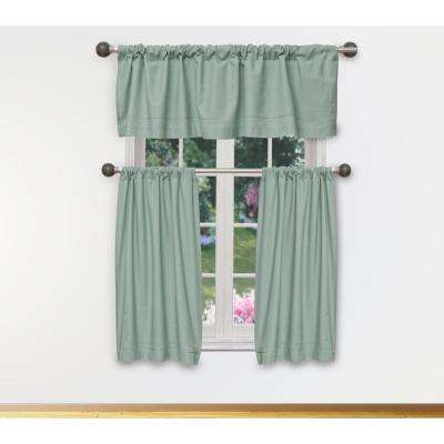 Miles Kitchen Valance In Tiers/aqua – 15 In. W X 58 In (View 6 of 25)
