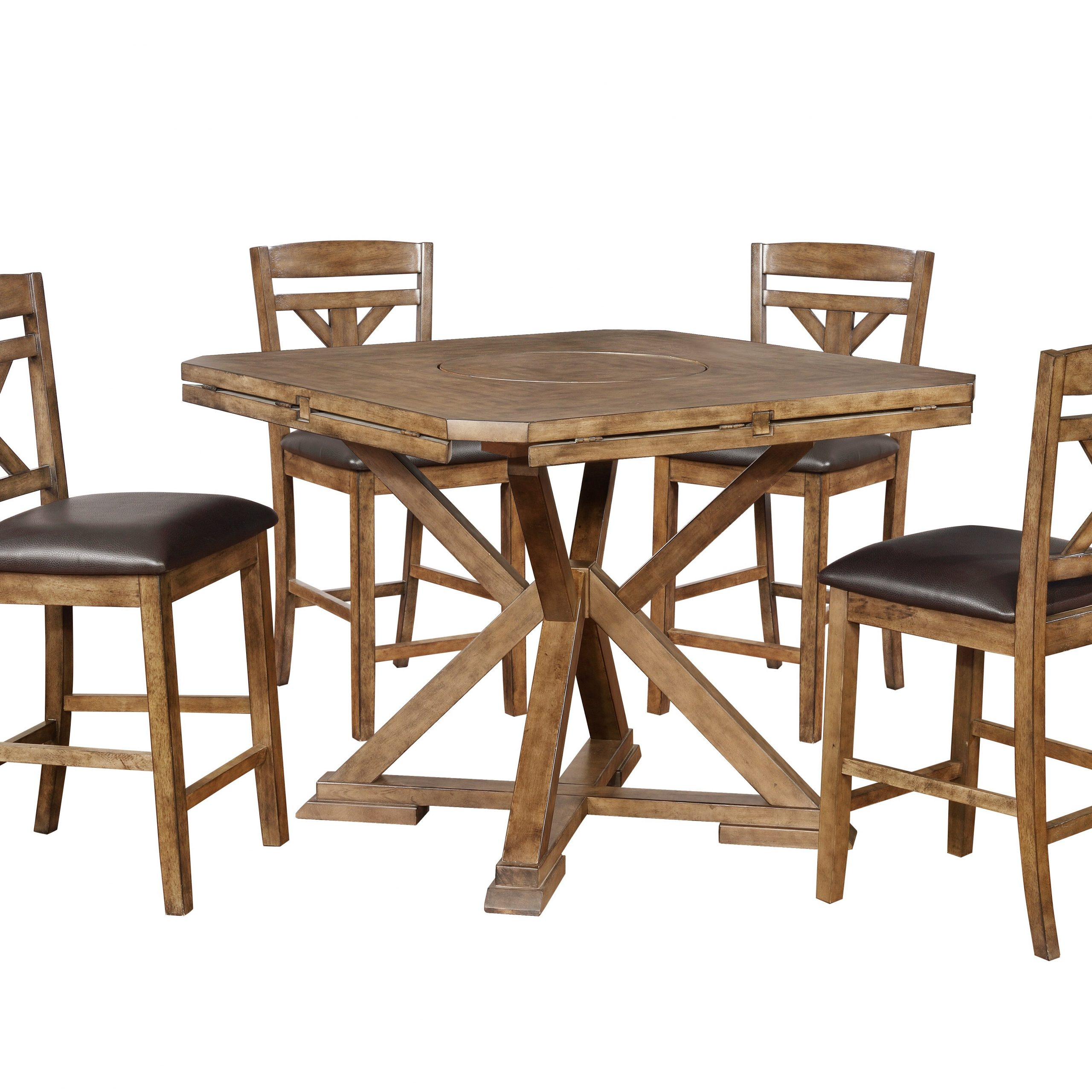 Millwood Pines Chapman 5 Piece Drop Leaf Dining Set | Wayfair For Most Popular Chapman Round Marble Dining Tables (View 14 of 25)