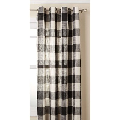 Millwood Pines Giovani Simple Elegance Vintage Check Intended For Grandin Curtain Valances In Black (View 23 of 25)