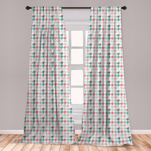 Mint And Coral Curtains | Wayfair Pertaining To Marine Life Motif Knitted Lace Window Curtain Pieces (View 19 of 25)