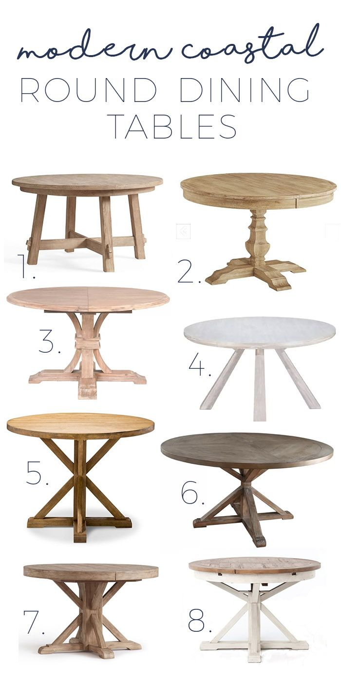 Modern Coastal Round Dining Tables – Gorgeous Options As Low Within Newest Montalvo Round Dining Tables (View 10 of 25)