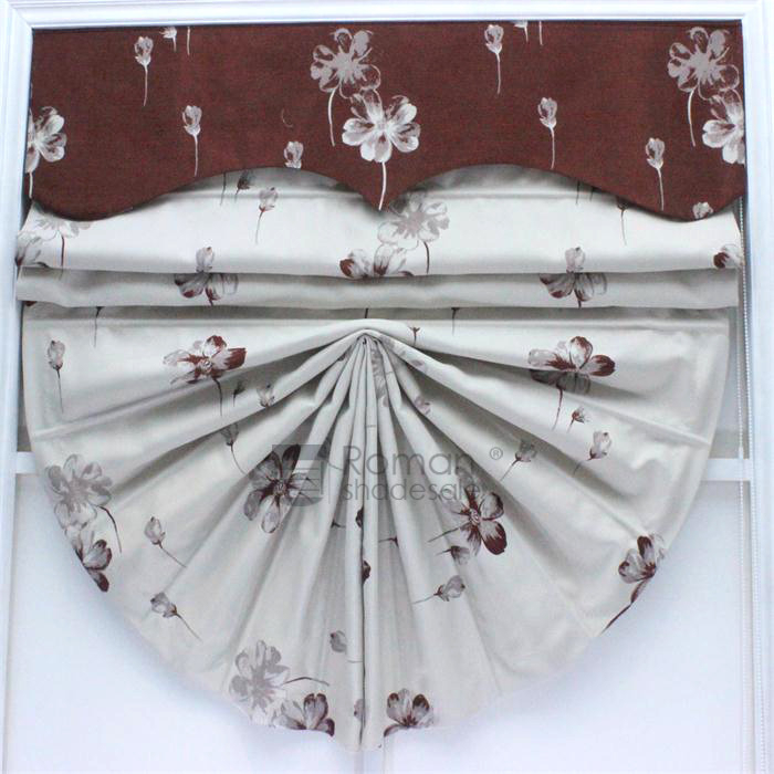 Modern Fan Shaped Floral Pattern Window Treatments Roman In Floral Pattern Window Valances (View 17 of 25)