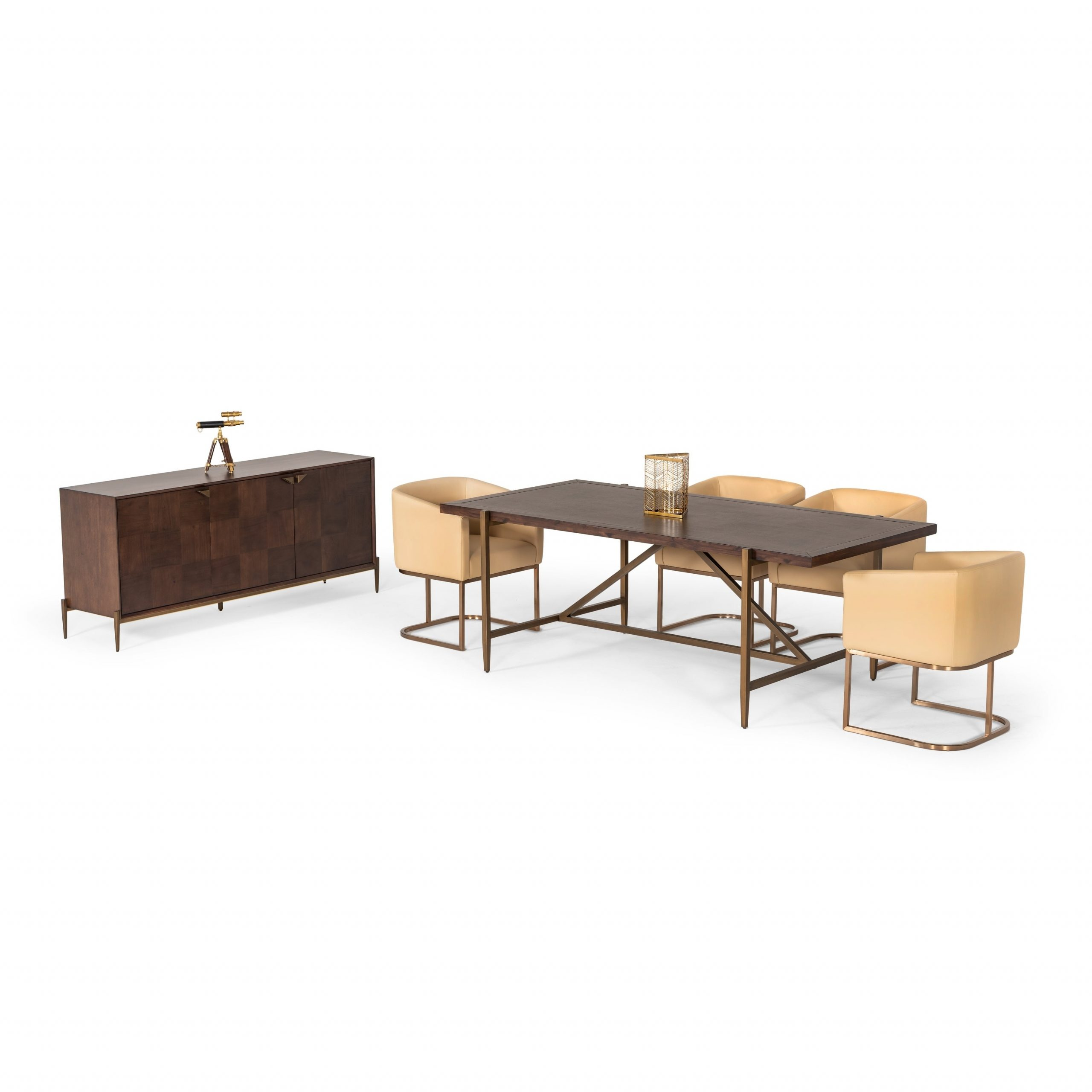 Modrest Shane Modern Acacia & Brass Dining Table Intended For Latest Salvaged Black Shayne Drop Leaf Kitchen Tables (View 23 of 25)