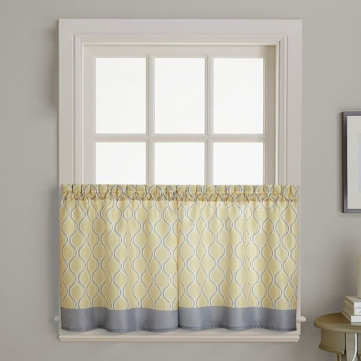 Morocco Tier Curtain Pair | Tier Curtains, Curtains Intended For Floral Watercolor Semi Sheer Rod Pocket Kitchen Curtain Valance And Tiers Sets (View 4 of 25)