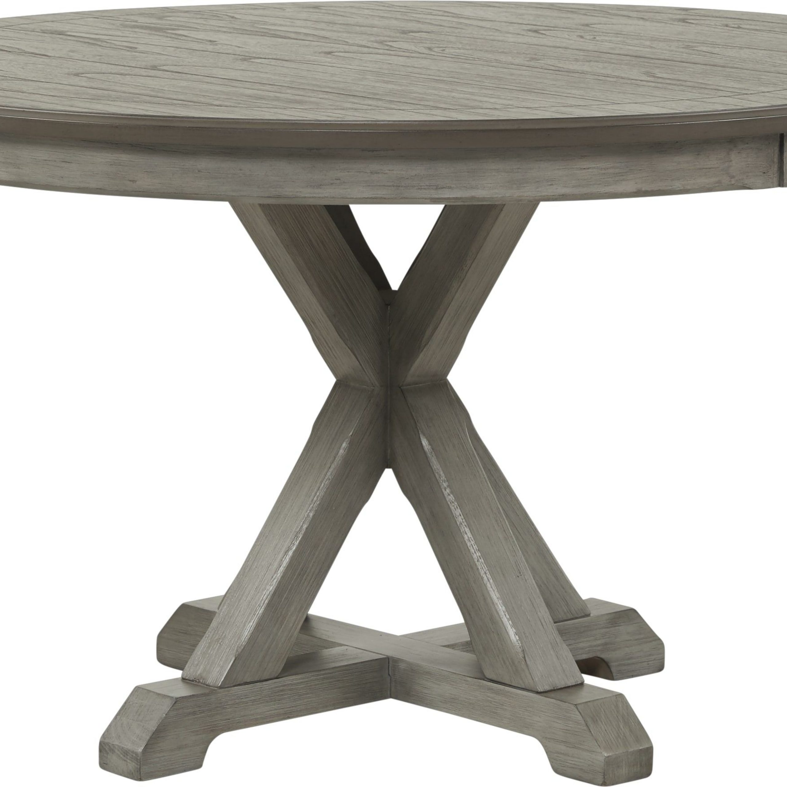 Nantucket Breeze Gray Round Dining Table .399. (Image 16 of 25)