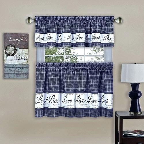 Navy Blue Tier Curtains – Sted In Cottage Ivy Curtain Tiers (View 11 of 25)