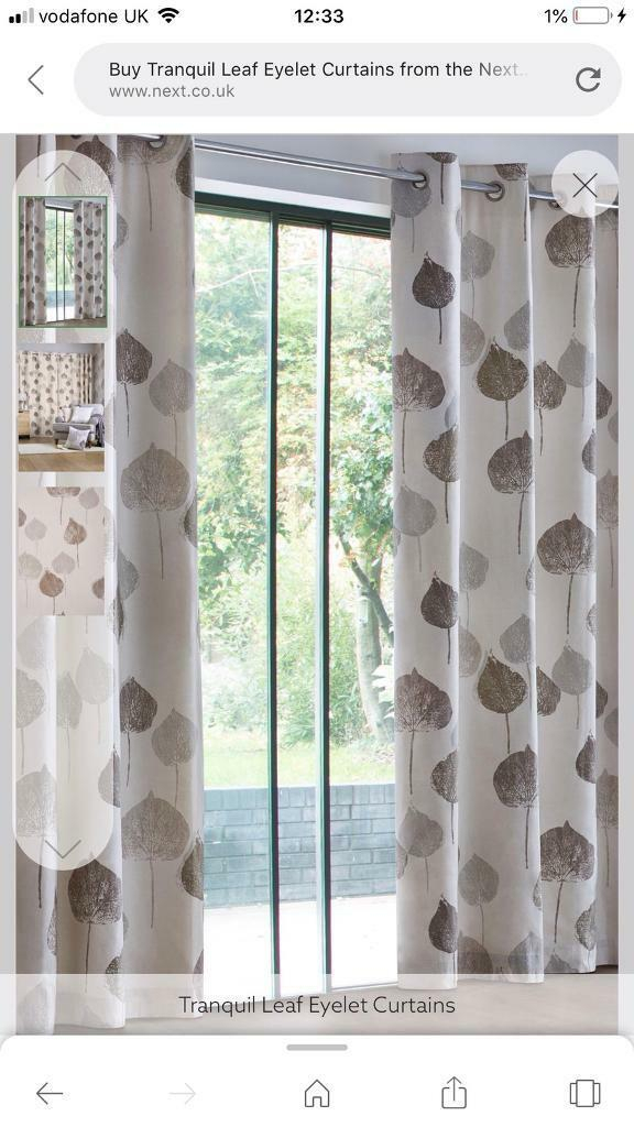 Nearly New Next Curtains – Tranquil Leaf | In Derby, Derbyshire | Gumtree Intended For Tranquility Curtain Tier Pairs (View 14 of 25)