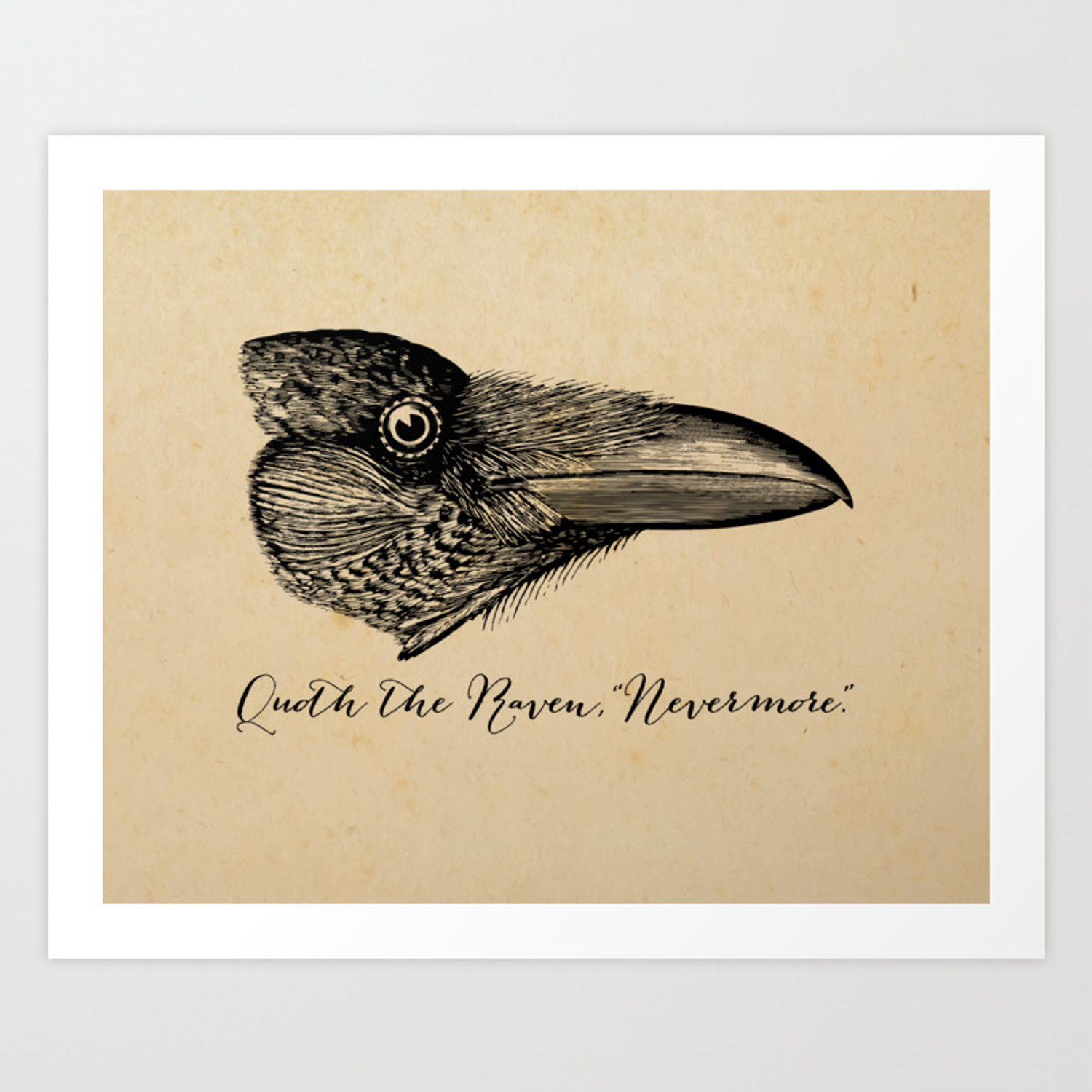 Nevermore – Edgar Allan Poe – Quoth The Raven Art Print Regarding Most Recently Released Edgar Bar Tables (View 21 of 25)