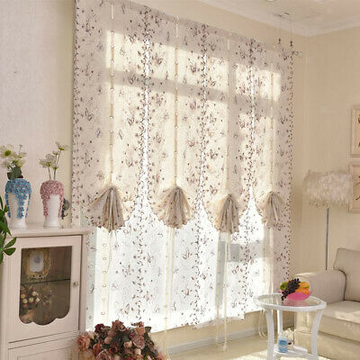 New – Oakwood Embroidered Linen Style Kitchen Curtain Window Intended For Oakwood Linen Style Decorative Curtain Tier Sets (View 6 of 25)
