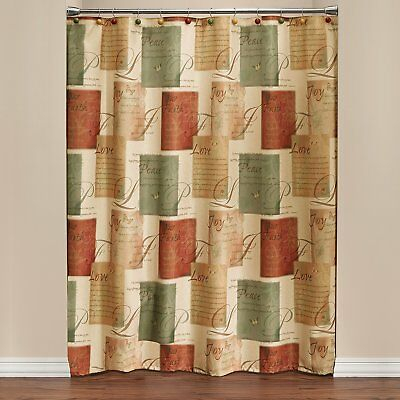 New Saturday Knight Tranquility Shower Curtain – Patchwork Throughout Tranquility Curtain Tier Pairs (View 19 of 25)