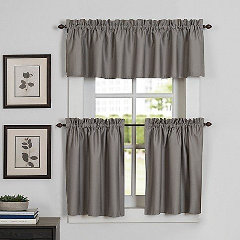 Newport Kitchen Window Curtain Tier And Valance Bed Bath With Kitchen Window Tier Sets (View 8 of 25)