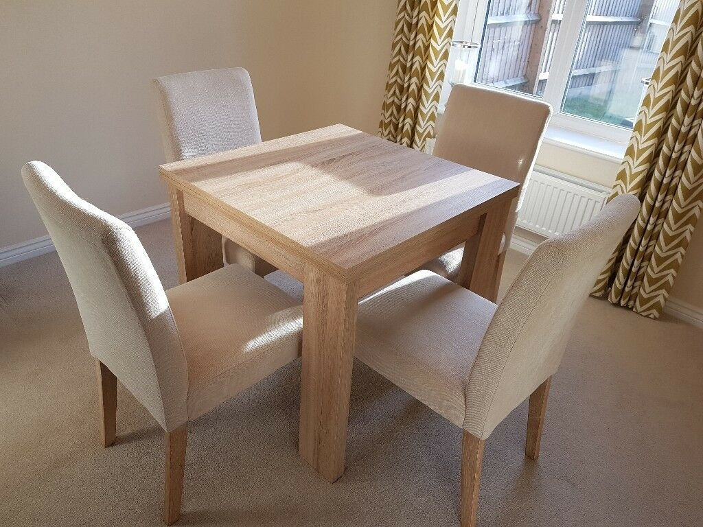 Next Corsica Extendable Dining Table With 4 Chairs | In Stafford, Staffordshire | Gumtree Intended For Most Recently Released Stafford Reclaimed Extending Dining Tables (View 13 of 25)
